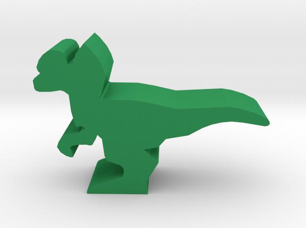 Dino Meeple, Dilophosaurus in Green Processed Versatile Plastic