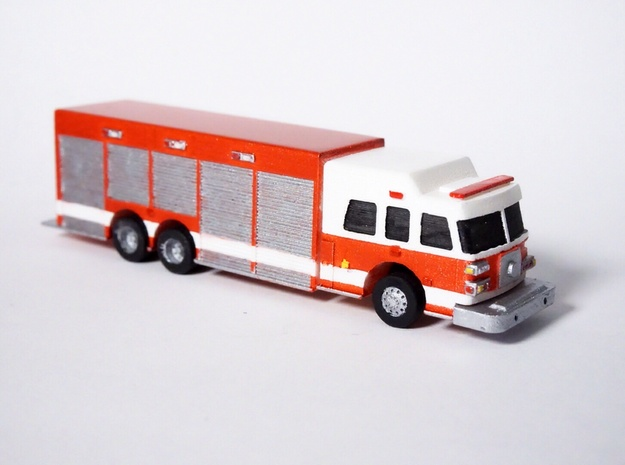1:160 N Scale Heavy Rescue Truck in Smooth Fine Detail Plastic