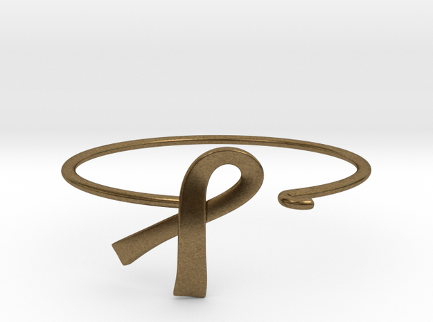 Ribbon Wire Bracelet in Raw Bronze