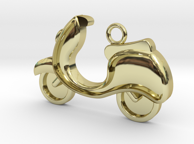 Scooter Charm in 18k Gold Plated Brass