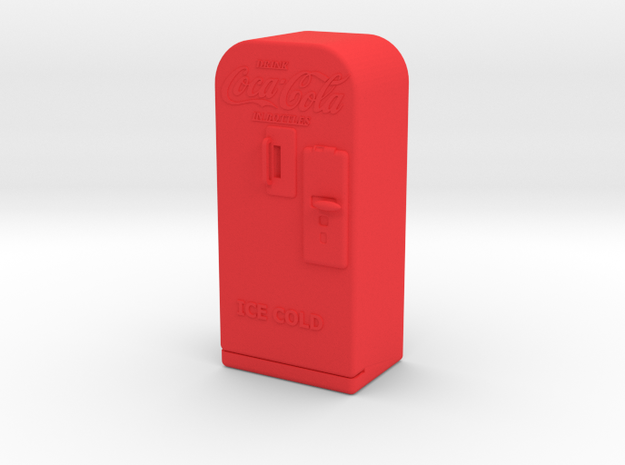 Coke Machine - Qty (1) G 22.5:1 Scale in Red Processed Versatile Plastic