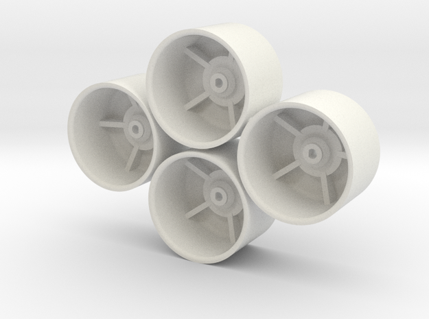 Losi Micro 1/24 SCT/Rally Dish Wheels in White Strong & Flexible