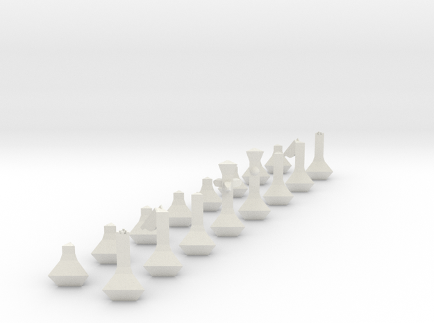 Chess Set in White Strong & Flexible