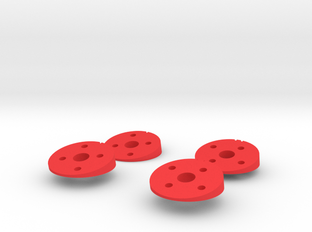 Strider 12 Degree Mounts Revised in Red Strong & Flexible Polished