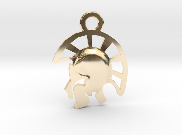 Warrior Pendant in 14K Yellow Gold