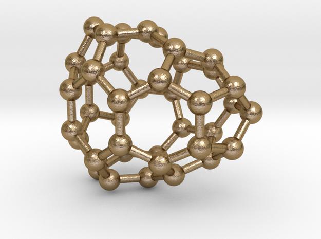 0113 Fullerene C40-7 cs in Polished Gold Steel