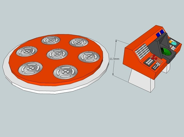 15mm Matter Conveyor Platform and Control Console 3d printed