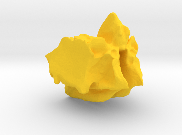 Ethmoid Bone of Cranium in Yellow Processed Versatile Plastic