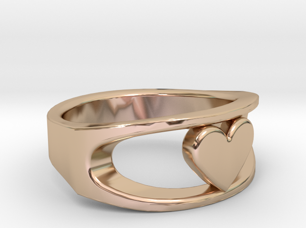 Lite Ring model 2.1 in 14k Rose Gold Plated