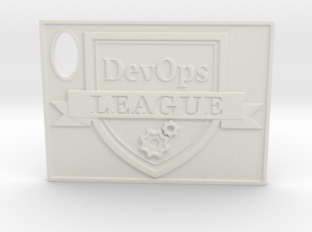DevOps Thought Leadership Crest Certificate in White Natural Versatile Plastic