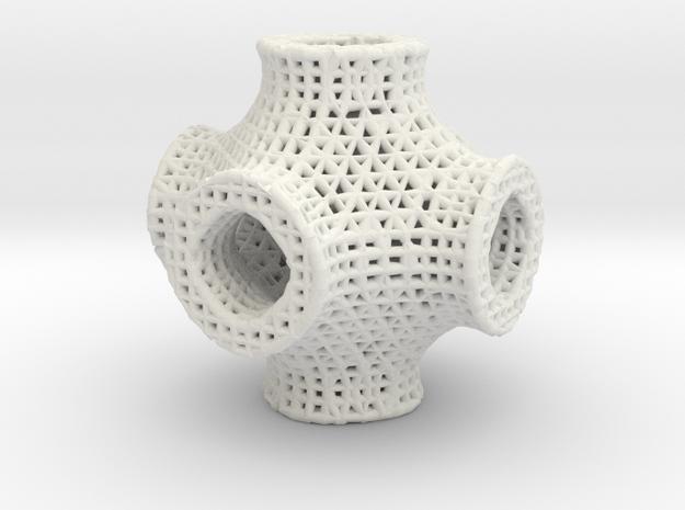 CloseIso2 math art in White Natural Versatile Plastic