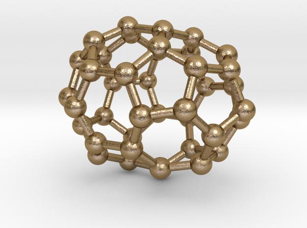 0126 Fullerene C40-20 c3v in Polished Gold Steel