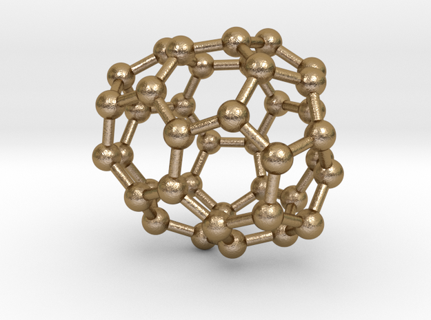 0131 Fullerene C40-25 c2 in Polished Gold Steel
