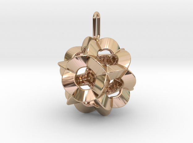 Pendant-c-6-5-20-45-p1o in 14k Rose Gold Plated Brass