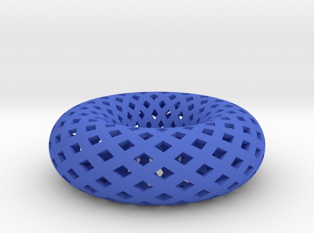 Torus, Small in Blue Processed Versatile Plastic
