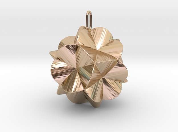 Pendant-c-6-5-30-45 in 14k Rose Gold Plated Brass