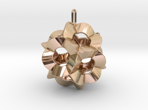 Pendant-c-6-5-30-45-p1o in 14k Rose Gold Plated Brass