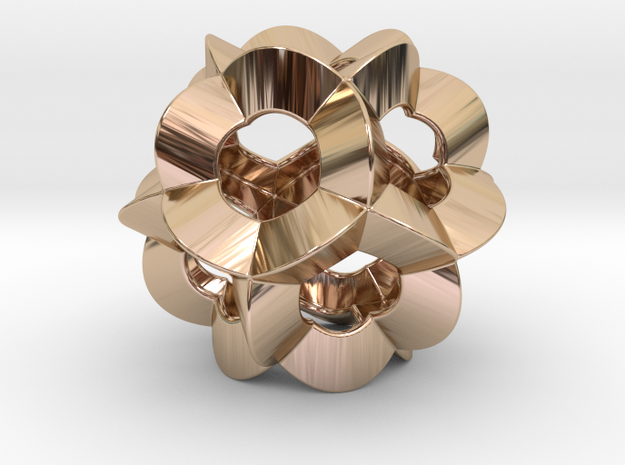 Pendant-c-6-5-30-p1o in 14k Rose Gold Plated Brass