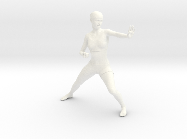 Karate in White Processed Versatile Plastic