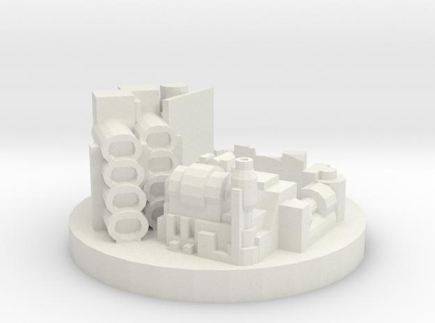 Die Holder Engine Parts in White Natural Versatile Plastic