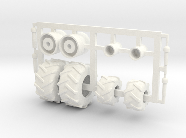 1/64 Tread Tires for 3450 TBH Air Cart in White Processed Versatile Plastic