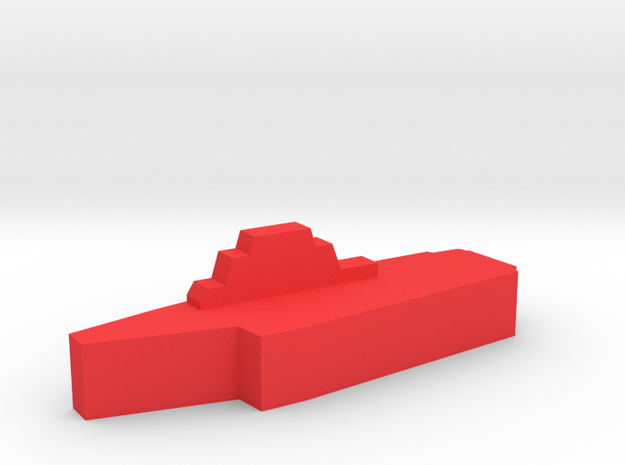 Game Piece, Red Force Kiev Carrier in Red Processed Versatile Plastic