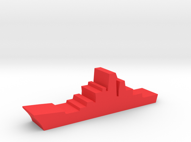 Game Piece, Red Force Kirov Cruiser in Red Processed Versatile Plastic