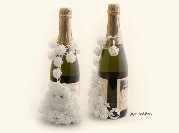 Bouquet - Champagne / Wine Bottle Sleeve (Part 2) 3d printed