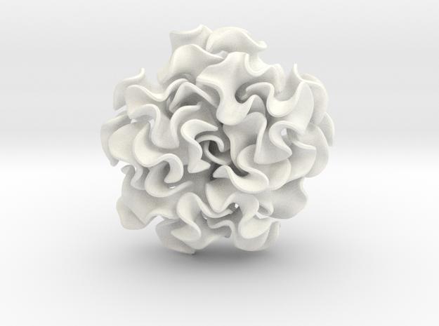 Flora Pendant in White Processed Versatile Plastic