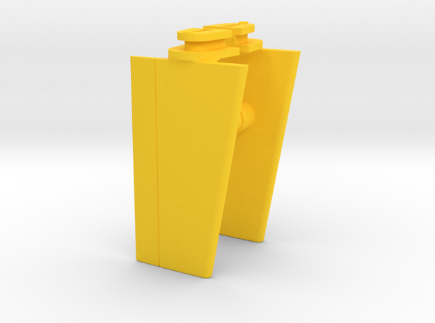 Playmobil Top Agents 4876, front wings (1 of 4) in Yellow Processed Versatile Plastic