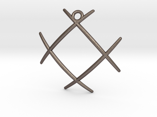 Hashtag in Polished Bronzed Silver Steel