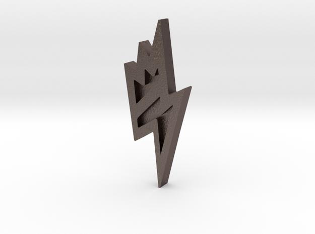 Unova Badge [Bolt] in Polished Bronzed Silver Steel