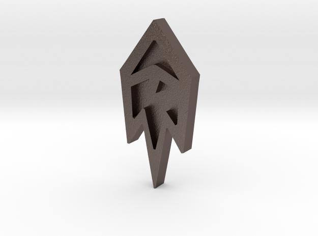 Unova Badge [Freeze] in Polished Bronzed Silver Steel