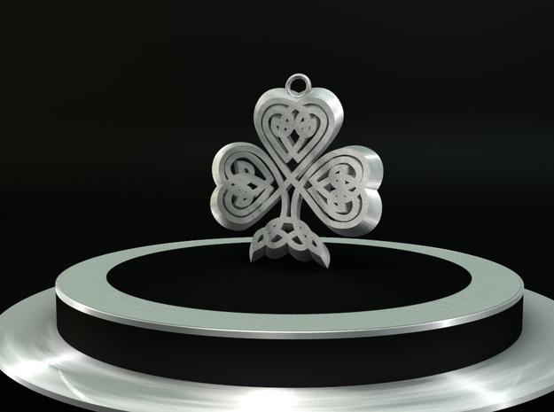 Celtic Clover Pendant version 2 3d printed