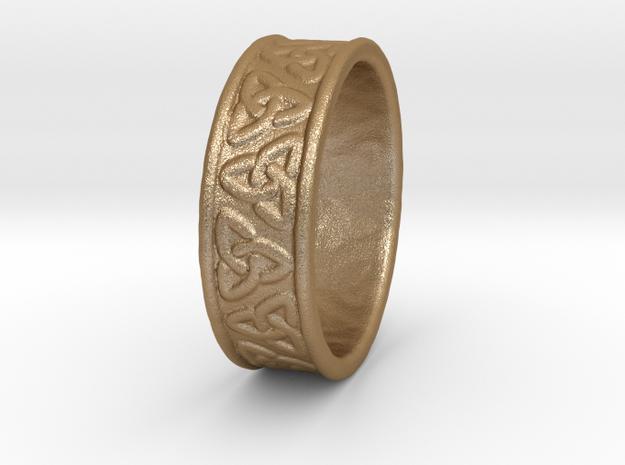 Celtic Ring 17.2mm in Matte Gold Steel