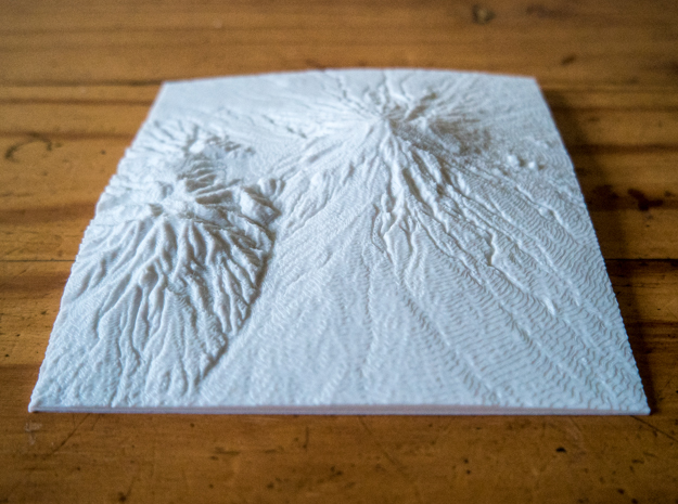 Mt. Taranaki in White Natural Versatile Plastic