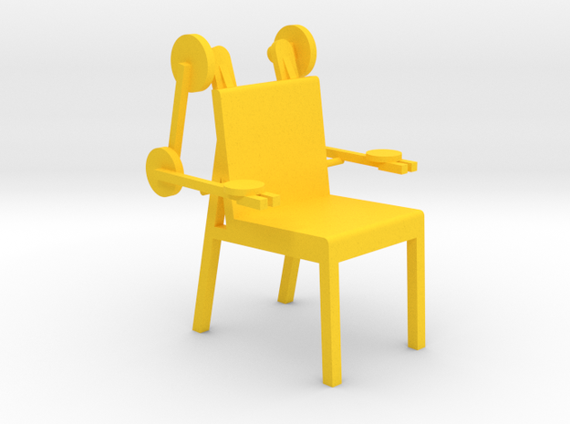 MECH CHAIR by RJW Elsinga 1:10 in Yellow Strong & Flexible Polished