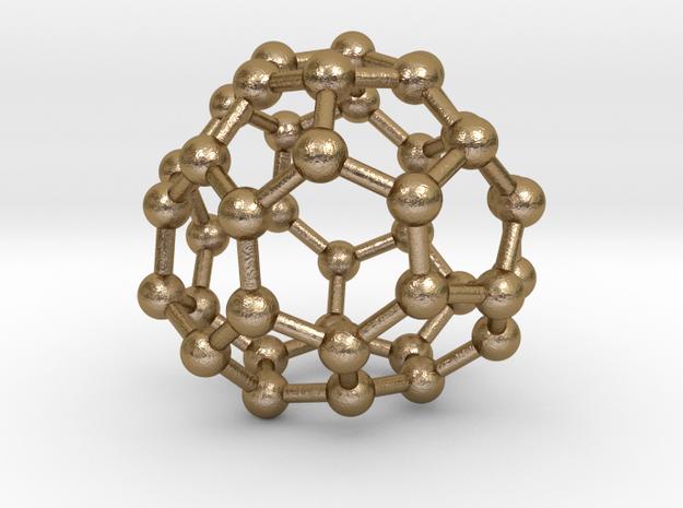 0150 Fullerene C40-38 d2 in Polished Gold Steel