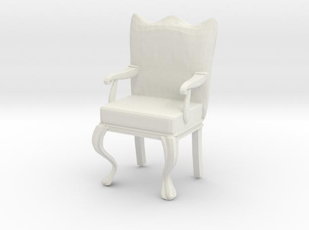 1:12 Scale Dollhouse Miniature Louis XVI Chair in White Natural Versatile Plastic