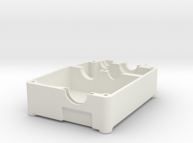 Bottom Half Of Kyosho 1/9 scale CCVT Gearbox RV-30 3d printed White Strong might be cool