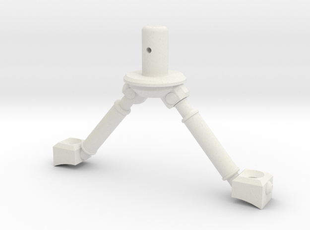 3d Strut Shuttle 3-3 in White Natural Versatile Plastic