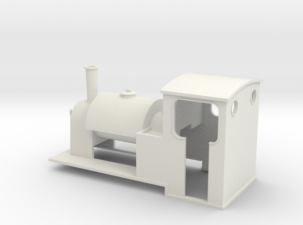 5.5 mm scale saddle-tank loco 3d printed FD print
