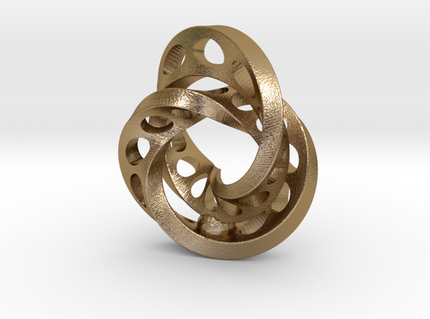 2-Twists in Polished Gold Steel