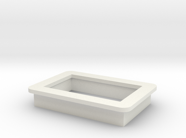 "0.36"" Voltmeter Bezel/Cradle - v1 in White Natural Versatile Plastic"