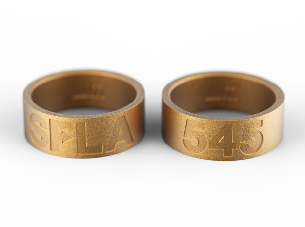 SFLA / 545 (size 6) in Polished Gold Steel
