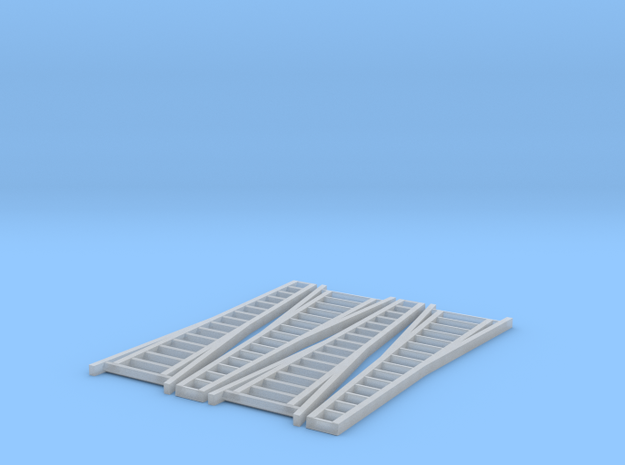 N Scale, Four 15' Orchard Ladders 3d printed