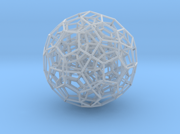 120-Cell, Perspective Projection 1 in Smooth Fine Detail Plastic