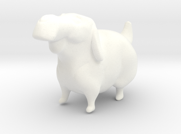 Labrador Retriever  in White Processed Versatile Plastic