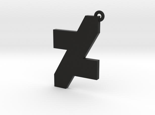 DA Logo 2 Normal CH8 in Black Natural Versatile Plastic