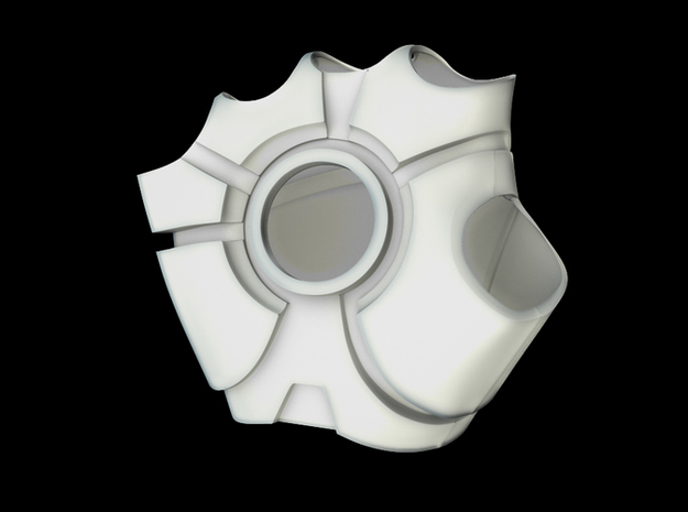 Iron Man Right Palm (XLarge) in White Natural Versatile Plastic
